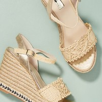 Elysess Verde Wedge Platform Sandals