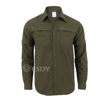 DCCKFS2 2016 New Army Men's Summer Tactical Shirt Quick Dry Shirt Removable Outdoor Leisure Breathable Uv Protection Military Shirt