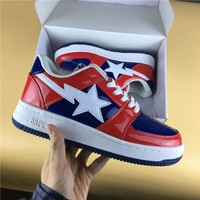 DCCK Foot Soldier BAPE STA Red-Blue/White Sneaker Shoe 36-45