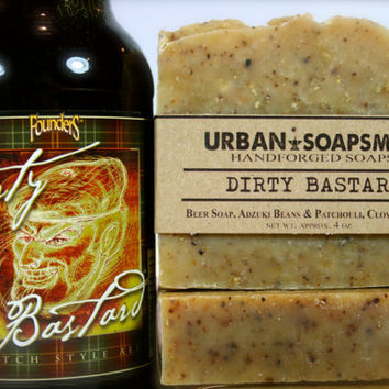 Dirty Bastard Beer Soap, Men's Soaps, Unisex Soaps, Handcrafted Beer Soap,  Cold Process Soap,  Bar Soaps,