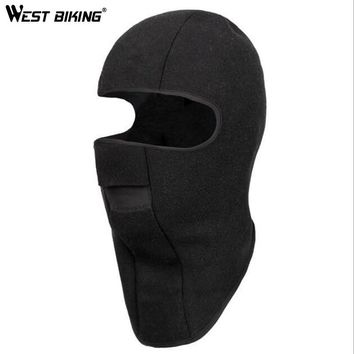 WEST BIKING Winter Fleece Thermal Veil Bike Bicycle Camping Hiking Sports Cap Breathable Windproof Face Mask Cycling Skiing Hat