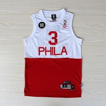NBA Philadelphia 76ers #3 Allen Iverson 10 Anni Spell color Jersey
