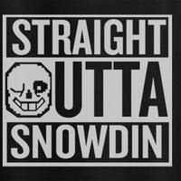Undertale Sans Straight outta Snowdin Compton game Tee T-Shirt Tshirt