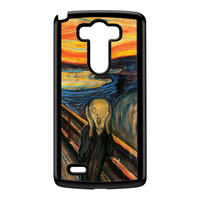 The Scream by Edvard Munch Black Hard Plastic Case for LG G3 by Painting Masterpieces
