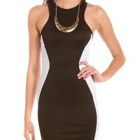 Scuba Racerback Body-Con Dress: Charlotte Russe