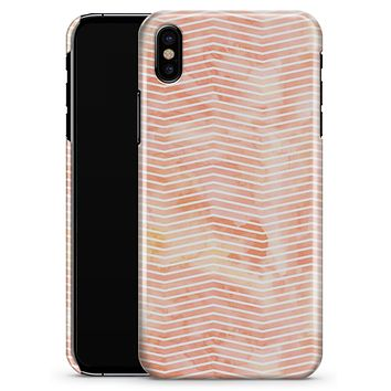 The Apricot Grunge Surface with Chevron - iPhone X Clipit Case