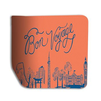 Bon Voyage Leather Passport Holder Protector Cover_SUPERTRAMPshop