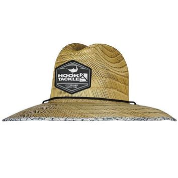Hook'em Lifeguard Fishing Stretch Fit Straw Hat