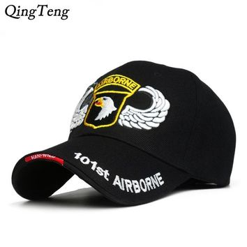Trendy Winter Jacket 101st Airborne Division Mens Baseball Caps US Army Cap Snapback Hats AIR FOREC Sport Tactical Cap Dad Hat 5 Panel Bone AT_92_12