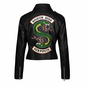 BNH Riverdale Southside Serpents Cole Sprouse Jughead Jones Jacket for Women: Amazon.ca: Clothing & Accessories