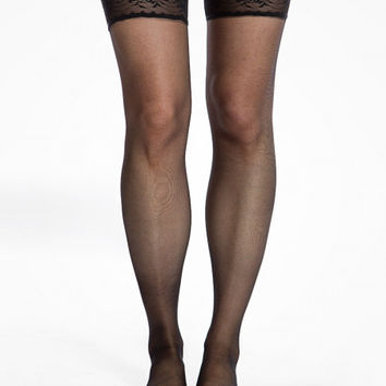 Black Lace Top Hold Ups | Vintage Inspired Fashion | Lindy Bop