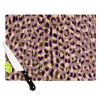 "Vasare Nar ""Leo Cheetah"" Animal Pattern Cutting Board"