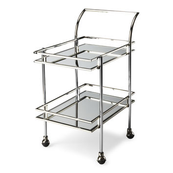 Silver Metal Bar Cart | Free Shipping