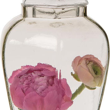 Glass Apothecary Jar (Large Hyssop design)