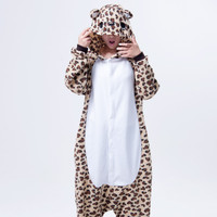 Cartoons Lovely Couple Leopard Home Animal Sleepwear Halloween Costume [9220975812]