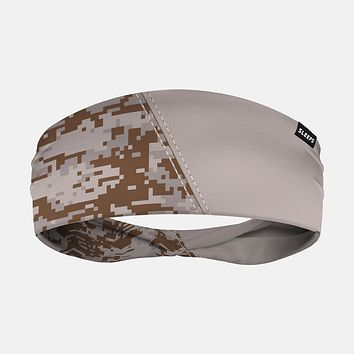 Arsenal Digi Camo Gray Brown Headband