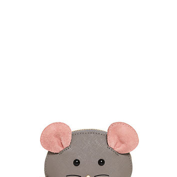 Kate Spade Cat's Meow Mouse Coin Purse Multi ONE