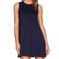 BLQ BASIQ Shift Dress in Navy