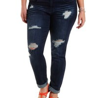 "Refuge ""Boyfriend"" Cropped Jeans"