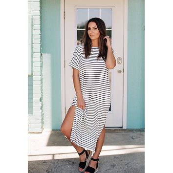 Black and White Affair Maxi Dress