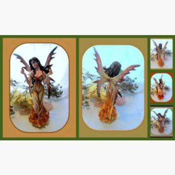 Elemental Fire Fairy Statue