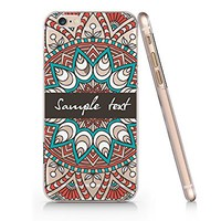 Supertrampshop - Mandala Floral Customized Text - Cover Iphone 6 6s Full Protection Durable Transparent Plastic Case (VAS567)