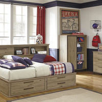 Bradford Full Size Big Bookcase Bed