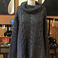 Everly Cozy Charcoal Turtleneck Sweater