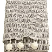 H&M Throw with Pompoms $69.95