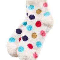 Shea-Infused Lounge Socks Colorful Dots