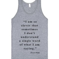 I am so clever (Oscar Wilde Tank)-Unisex Athletic Grey Tank
