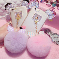 Fur bunny iphone phone case