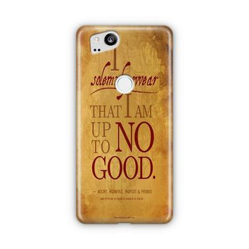Harry Potter Quote   I Solemnly Swear That I Am Up To No Good Black Google Pixel 3 XL Case | Casefantasy