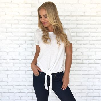 Nicole Tie Top in White