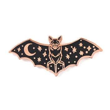 Creature Of The Night Pin - Copper