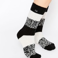 Calvin Klein Luxury Colour Block Boot Socks