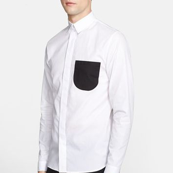 Men's J.W. ANDERSON Trim Fit Contrast Pocket Shirt,