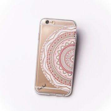 TPU Clear Case for iPhone & Galaxy Half Mandala