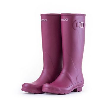 2017 NEW! All-match Rainboots Fashion Rain Boots Waterproof Slip-on Boots Buckle Knee High Rubber Boots