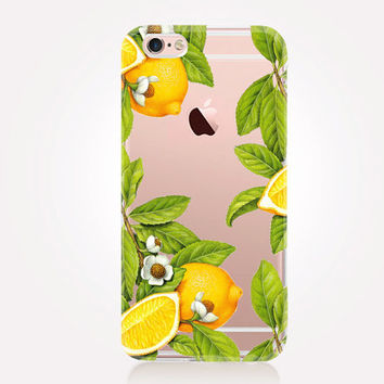 Transparent Lemon iPhone Case- Transparent Case - Clear Case - Transparent iPhone 6 - Transparent iPhone 5 - Transparent iPhone 4