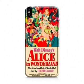 Old Disney Posters Alice In Wonderland iPhone X case