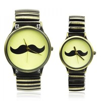 Vintage Moustache Couple Watches by deniserose on Zibbet