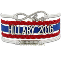 CUSTOMAMA 2016 USA Vote for Donald Trump Vote for Bernie Sanders Vote for Hillary Clinton Bracelet Custom any Themes