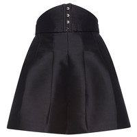 High Waist Mikado Shorts with Metal Detail | Moda Operandi