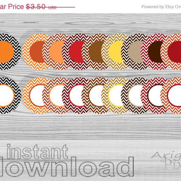WEEKEND SALE 50% OFF instant download, clip art set, chevron circles, fall colors, round frames, stickers, labels, smal bussines use