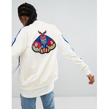Bailianyi £ºadidas Originals Embellished Arts Bomber Jacket With Butterfly Embroidery