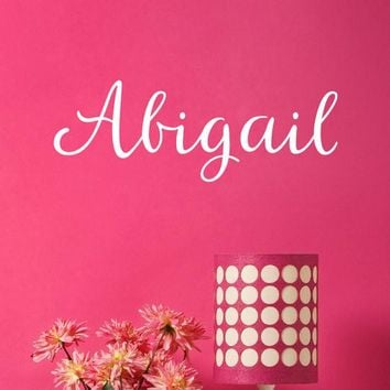 Personalized Name Decal - Font 48