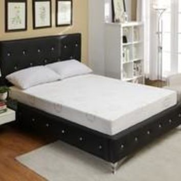 Black Crystal Tufted Storage Bench