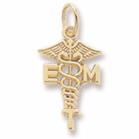 Emt Charm in Yellow Gold Plated