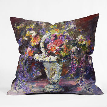 Ginette Fine Art Mona Lavender 2 Outdoor Throw Pillow